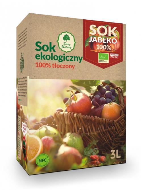 Sok jabłkowy EKO 100% 3l | Dary Natury