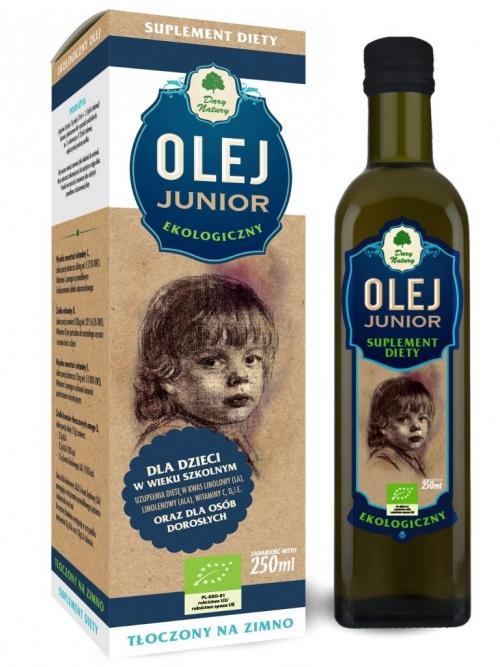 Olej junior EKO 250ml - Suplement diety | Dary Natury