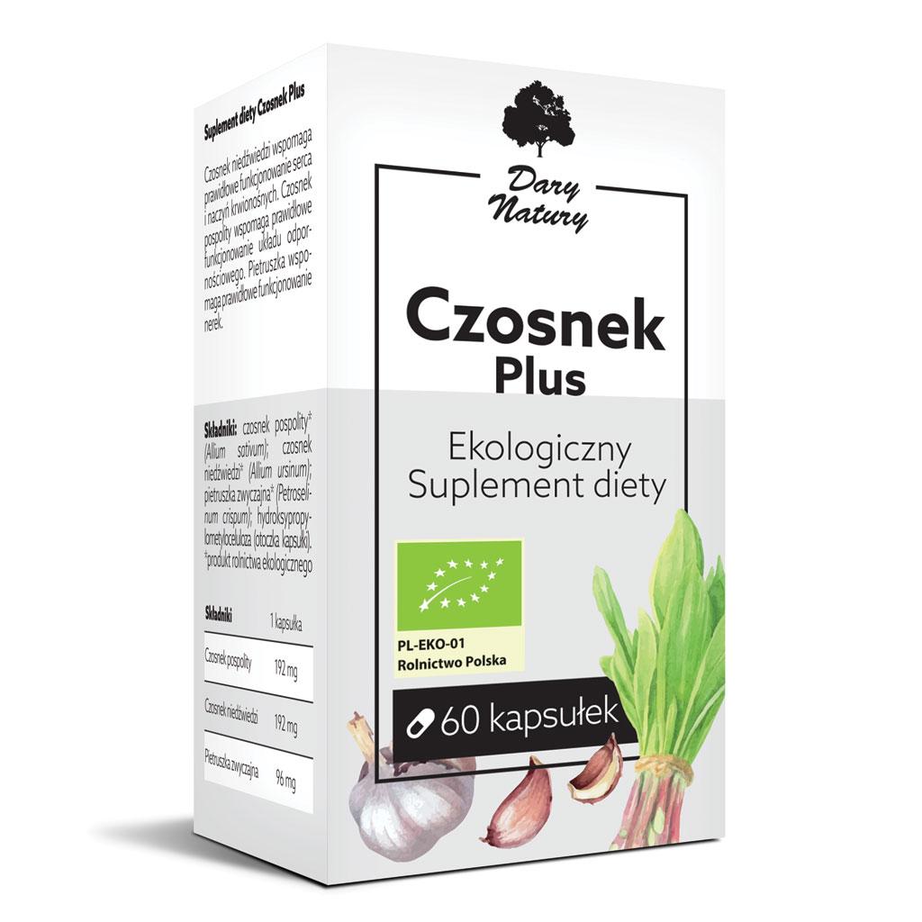 Czosnek plus EKO 60 kapsułek - Suplement diety