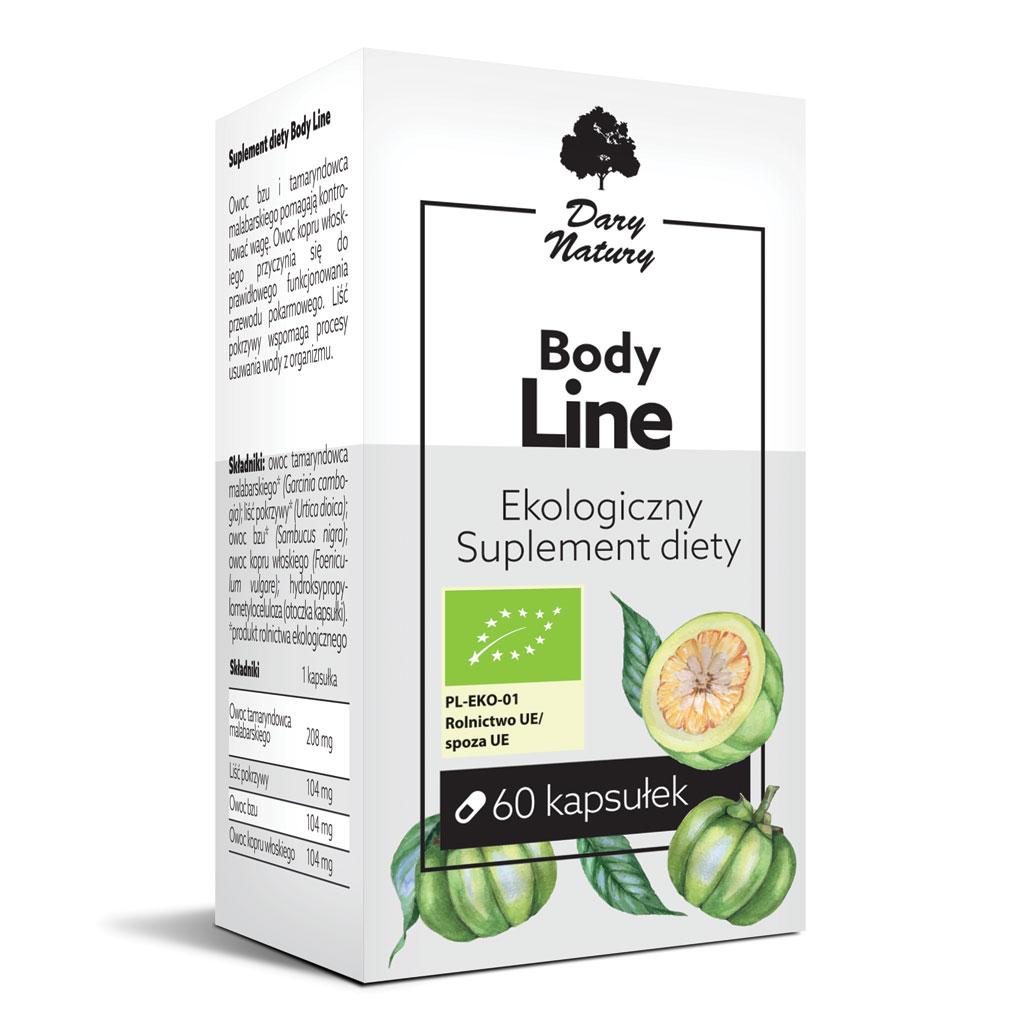 Body Line EKO 60 kapsułek - Suplement diety   Dary Natury