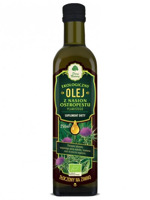 Olej z ostropestu plamistego EKO 0,25l - suplement diety | Dary Natury
