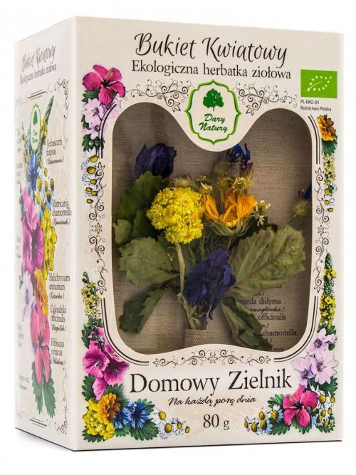 Domowy Zielnik - Bukiet Kwiatowy Eko 80g   Dary Natury