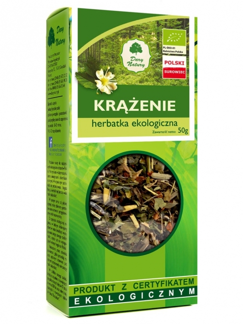 Herbatka krążenie EKO 50g   Dary Natury