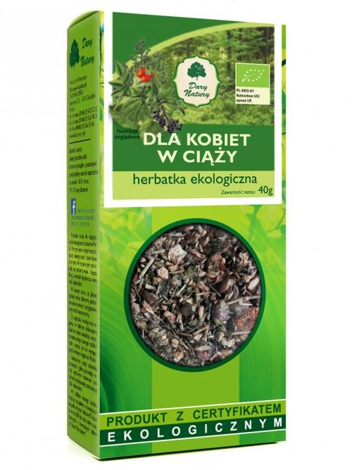 Herbatka dla kobiet w ciąży EKO 40g   Dary Natury