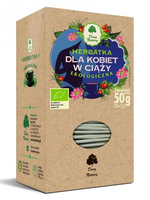 Herbatka dla kobiet w ciąży EKO 25x2g   Dary Natury