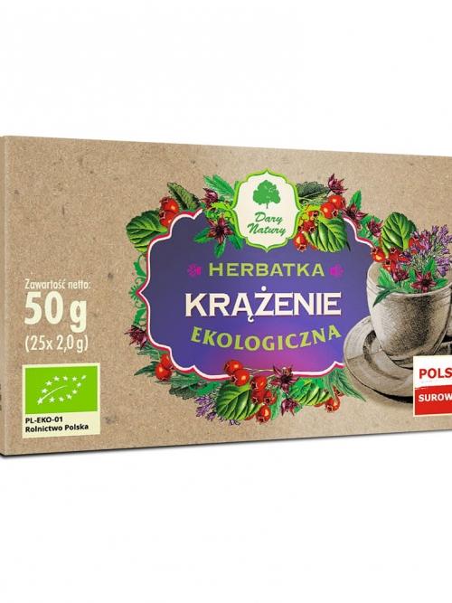 Herbatka krążenie EKO 25x2g   Dary Natury