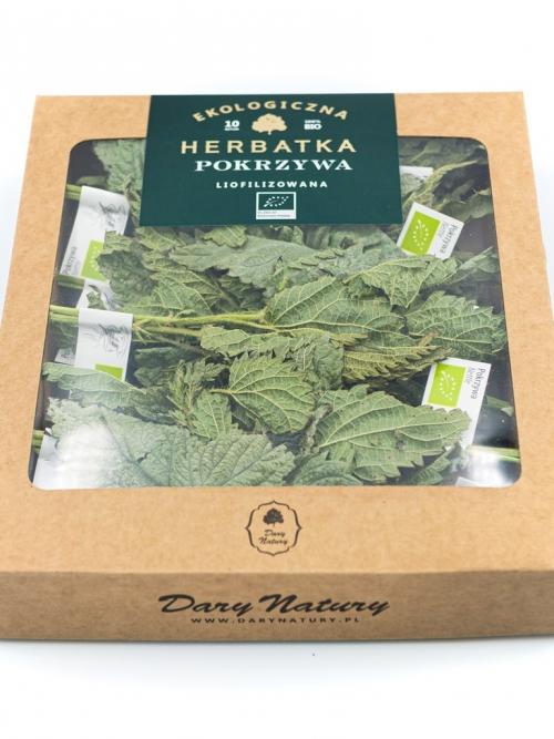 Liofilizowana herbatka Pokrzywa EKO 10x1g   Dary Natury
