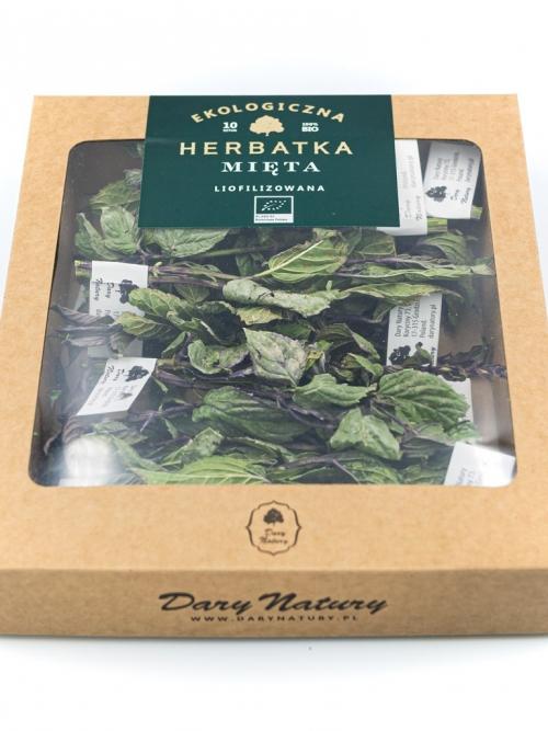 Liofilizowana herbatka Mięta EKO 10x1g   Dary Natury