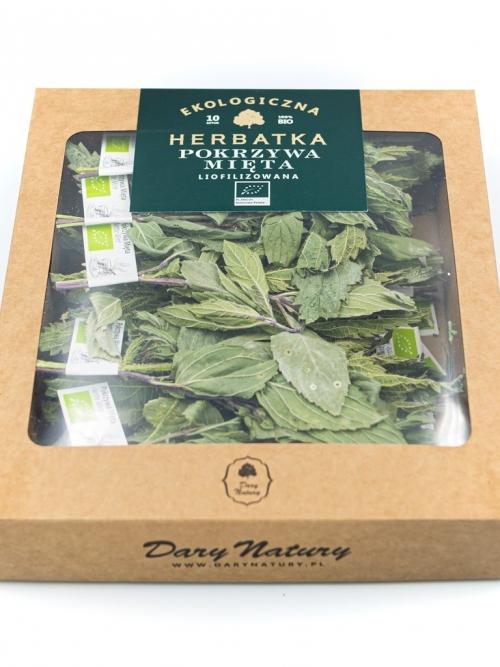 Liofilizowana herbatka Pokrzywa Mięta EKO 10x1g   Dary Natury