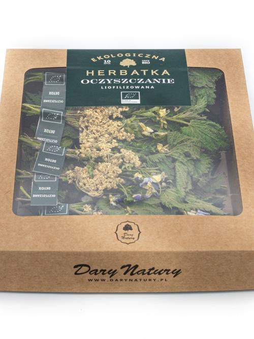 Liofilizowana herbatka Oczyszczanie EKO 10x2g   Dary Natury