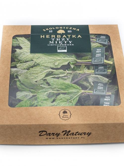 Liofilizowana herbatka Trzy mięty EKO 10x2g   Dary Natury